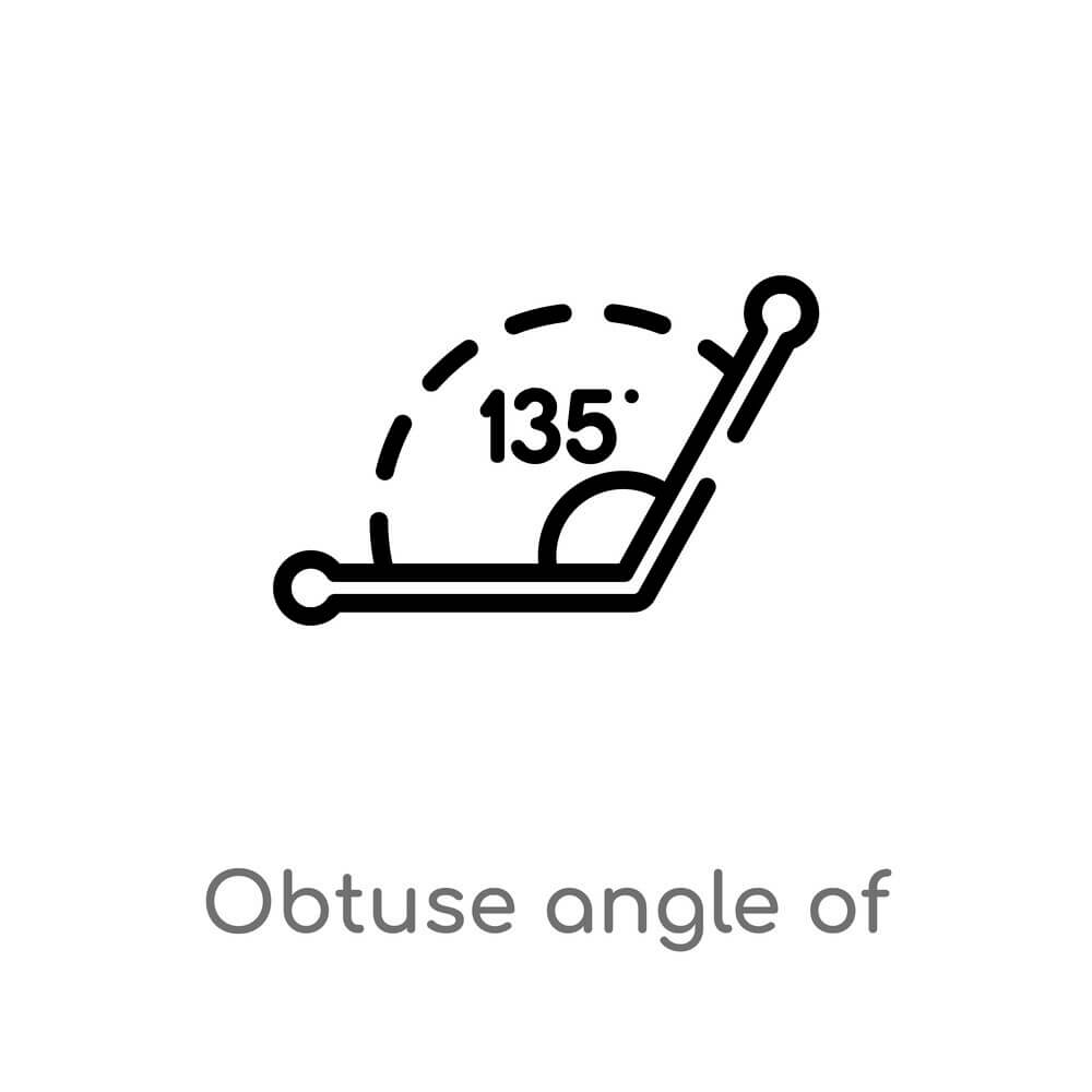 Obtuse angle of 135 degrees