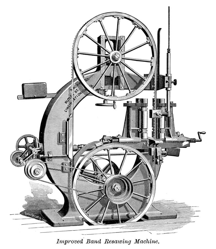 A classic style Bandsaw illustration