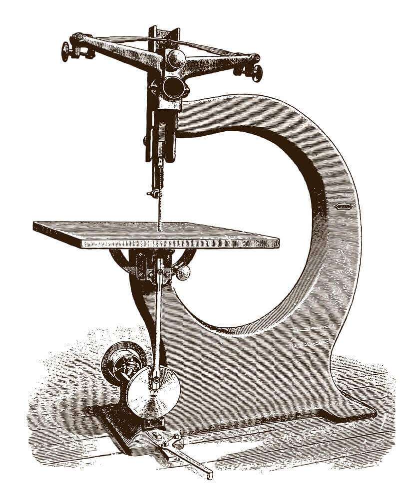 Vintage scroll saw machine
