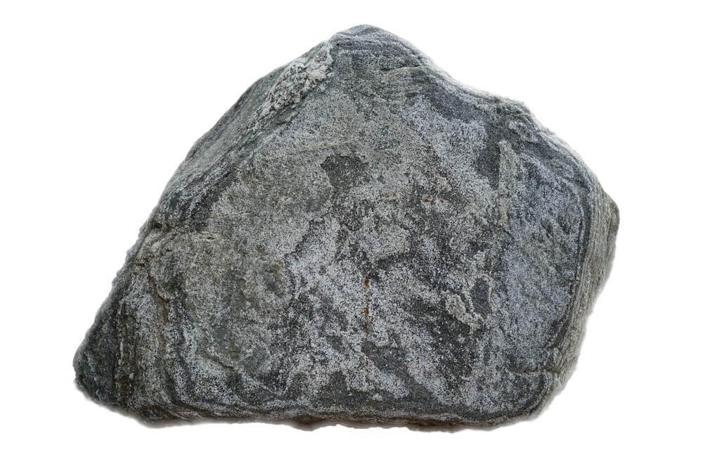 rock with white background